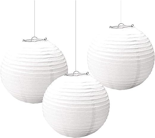 amscan Blue 3 paper lanterns 24cm//9in Decorative Items