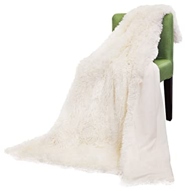 FabricMCC Faux Fur Throw Blanket, Camel Fleece Blanket, Solid Warm Soft Cream Style Throw on Sofa/Bed/Plane/Travel Bedspread Bed Sheet for Couch Light Weight Bed Shaggy Blanket 50x60 inch