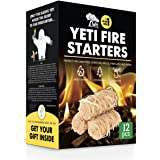 WOODHOT FIRE Starters Natural Tumbleweeds | 12 pcs | - YETI Wood fire Starter for Fireplace, Campfire, Wood Stove, fire…