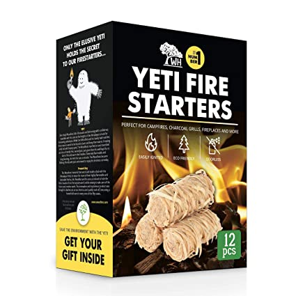 WOODHOT FIRE Starters Natural Tumbleweeds | 12 pcs | - YETI Wood fire  Starter for Fireplace, Campfire, Wood Stove, fire Pit, Charcoal Grill,  Barbecue