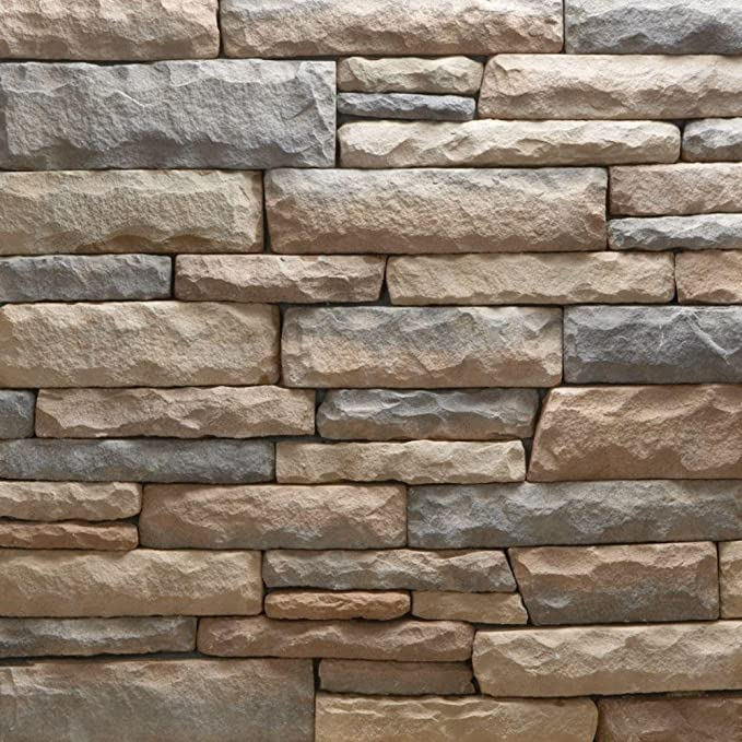 Veneerstone Ledge Stone Bristol Flats 10 Sq Ft Handy Pack Manufactured Stone Garden Outdoor Amazon Com