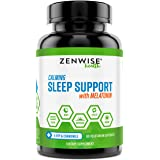 Natural Sleeping Aid - Nighttime Sleep Support Supplement - with 100 MG 5 HTP + Magnesium to Fall Asleep Fast - Chamomile & M