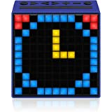 Divoom Timebox Smart Portable Bluetooth LED Speaker with APP-Controlled Pixel Art Animation, Notification and Build- In Clock/ Alarm - Blue