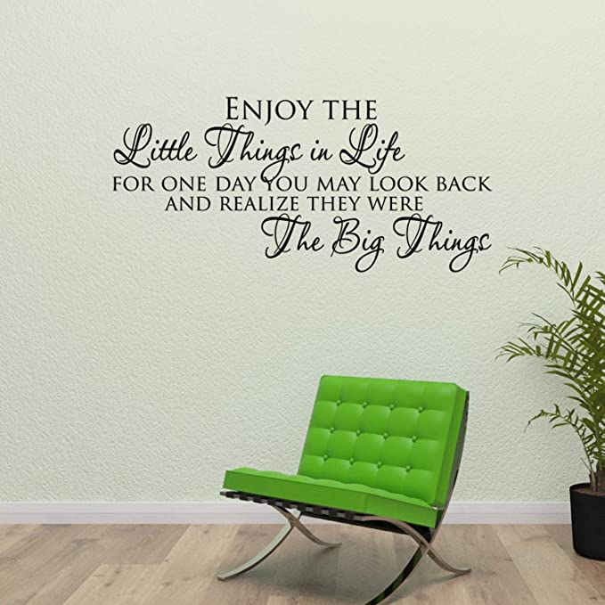 Enjoy The Little ThingsWall Sticker Quote Decal Vinyl Words DIYWQB40