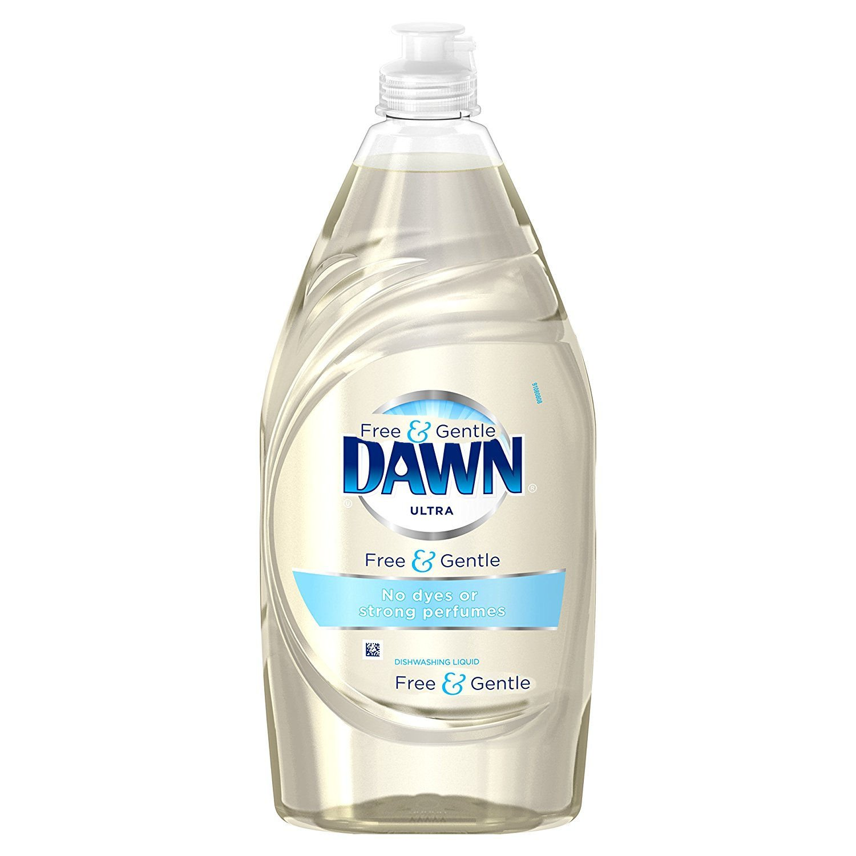 2 Pk. Dawn Free & Gentle Dishwashing Liquid Dish Soap, 18 FL Oz.