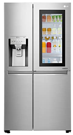 LG 668 L InstaView Door-in-Door inverter linear Side-by-Side Refrigerator (GC-X247CSAV, Noble Steel, LG ThinQ)