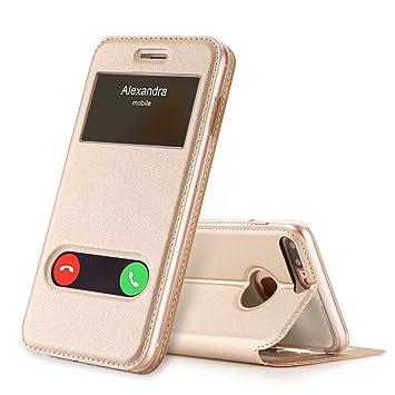 d41e557930e FYY Funda iPhone 8 Plus, Funda iPhone 7 Plus, De Soporte Magnetico en la  Parte Cubierta y Funcion de Ventana ...