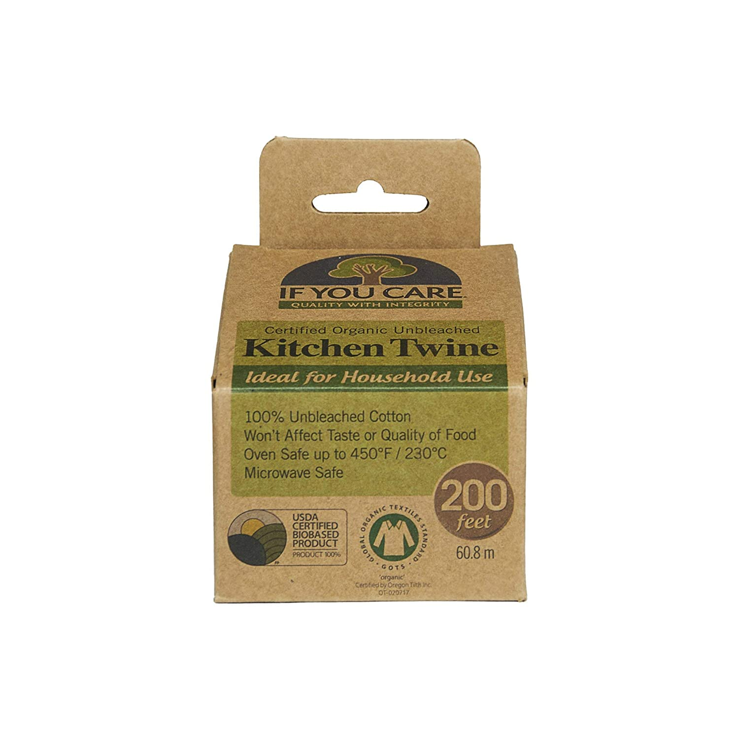 If You Care J25031 100% Natural Cooking Twine, 200', Unbleached