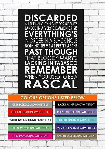 Lanas Art Personalised Prints Fluorescent Adolescent Arctic Monkeys Word Typography Words Song Lyric Lyrics Music Wall Art