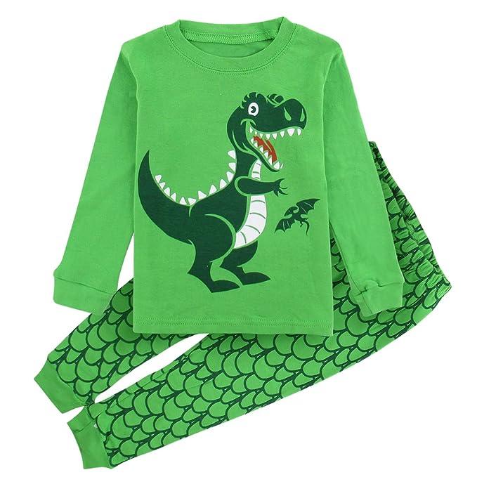d179807c20 Mombebe Niños Chicos Dinosaurio Conjunto De Pijamas Ropa De Dormir ( Dinosaurio 3