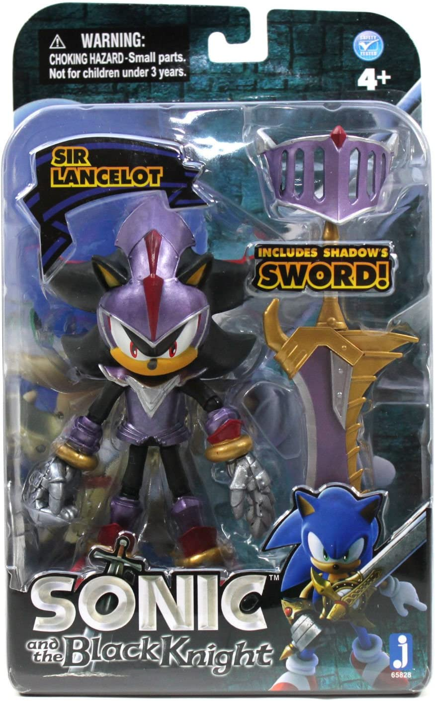 Amazon Com Sonic And The Black Knight Sir Lancelot Shadow 4 Action Figure Toys Games