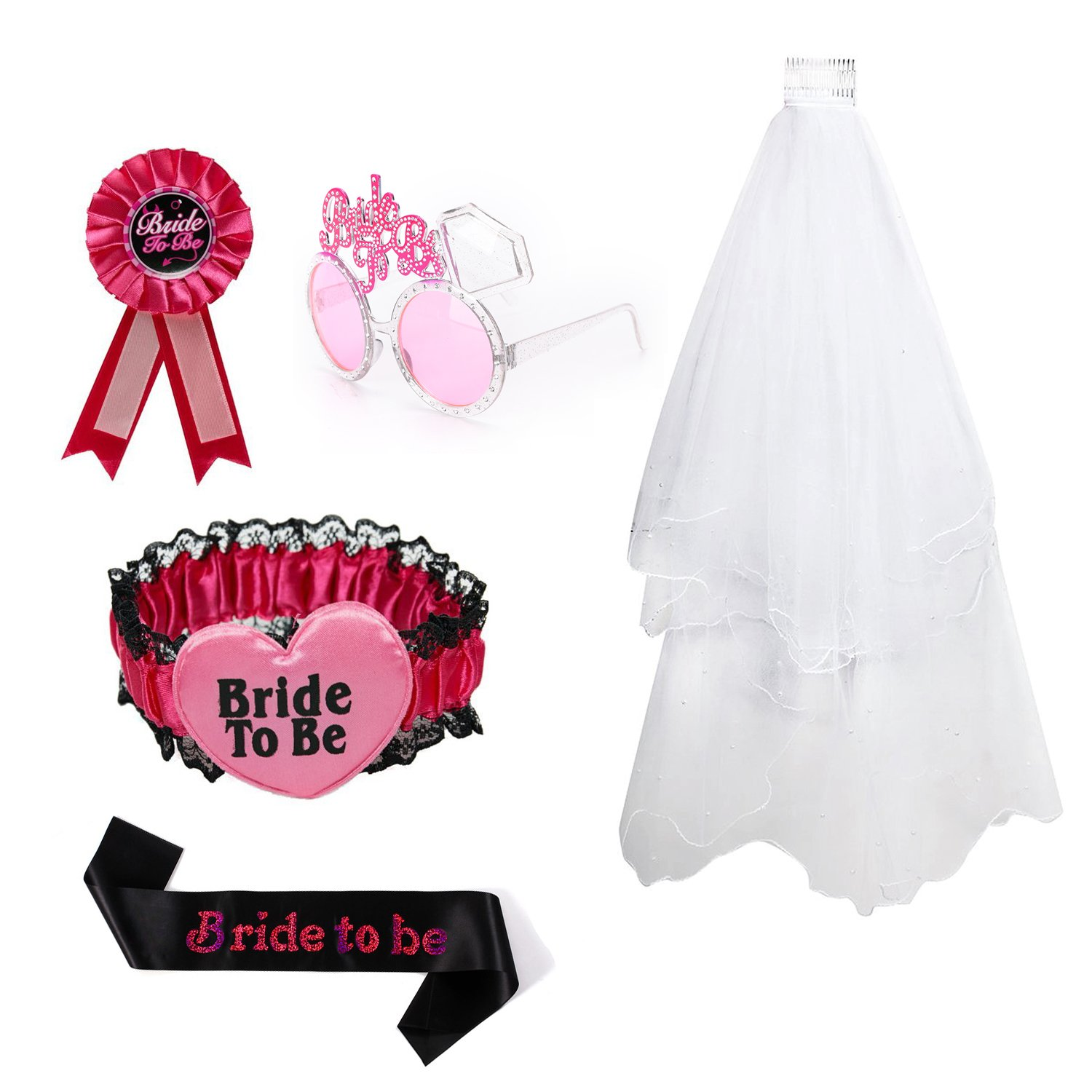 Tdmall Bachelorette Party Accessory - Perfect Bride to Be Set for Bridal Shower Decorations & Party Supplies (C)