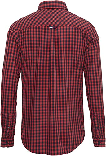 Tommy Jeans Camisa Cuadros Rojo Hombre