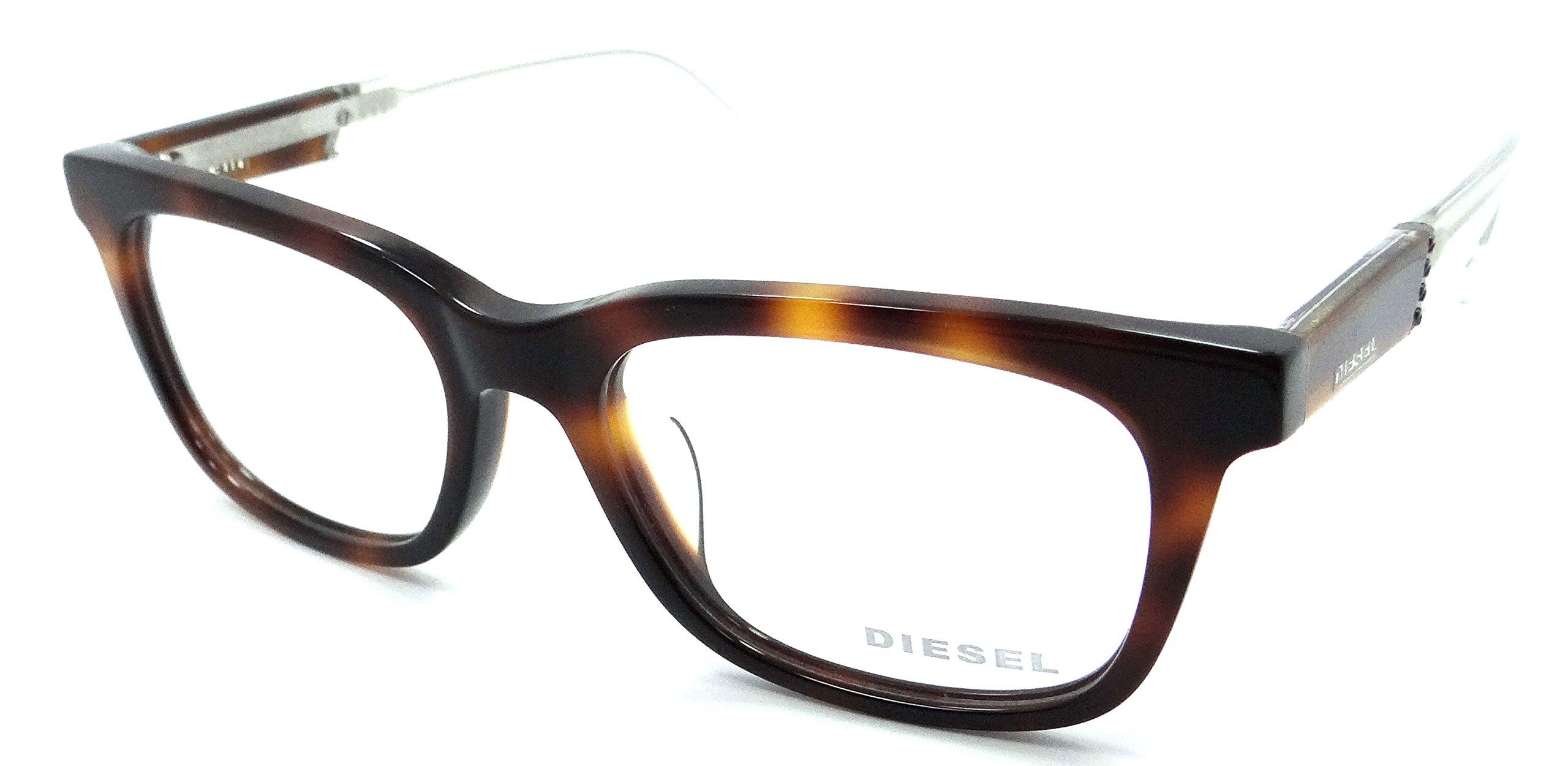 Diesel Rx Eyeglasses Frames DL5148-D 052 54-18-145 Havana / Crystal Asian Fit