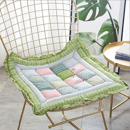 GTD-Cojines para Exterior, Almohadillas de Asiento de cojín Comfort - Cojines Antideslizantes for sillas de Cocina de jardín - 48 * 48 cm (Color : Green): Amazon.es: Hogar