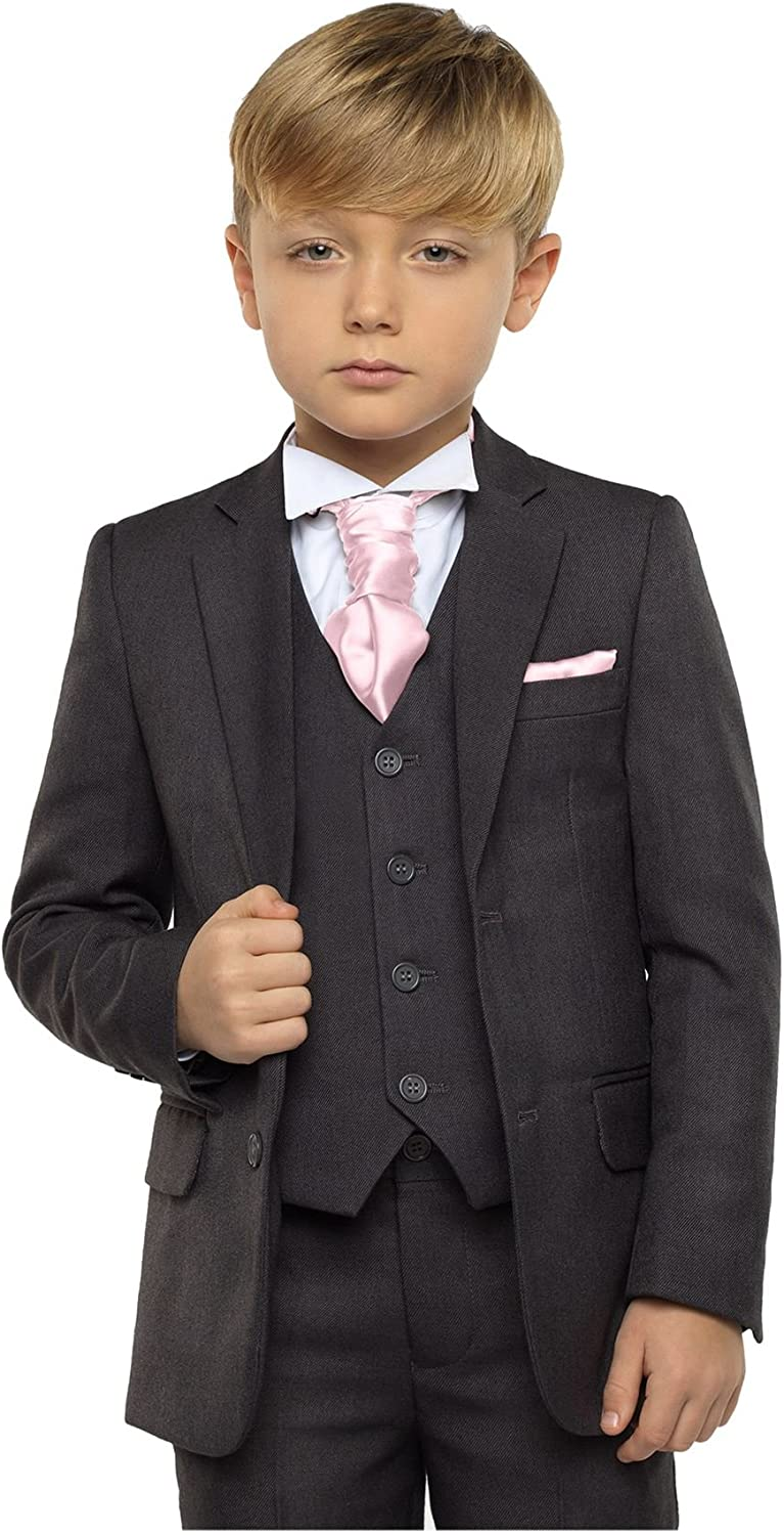 Page Boy Suits Boys Suits Paisley of London Baby Boys White /& Grey Waistcoat Suit
