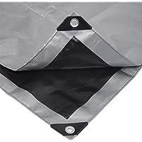 Laneetal Lona Funda Protectora Resistente al Agua y Anti-UV Cubierta de Madera Gris-Negro 2x3m 180g/m² 0930115