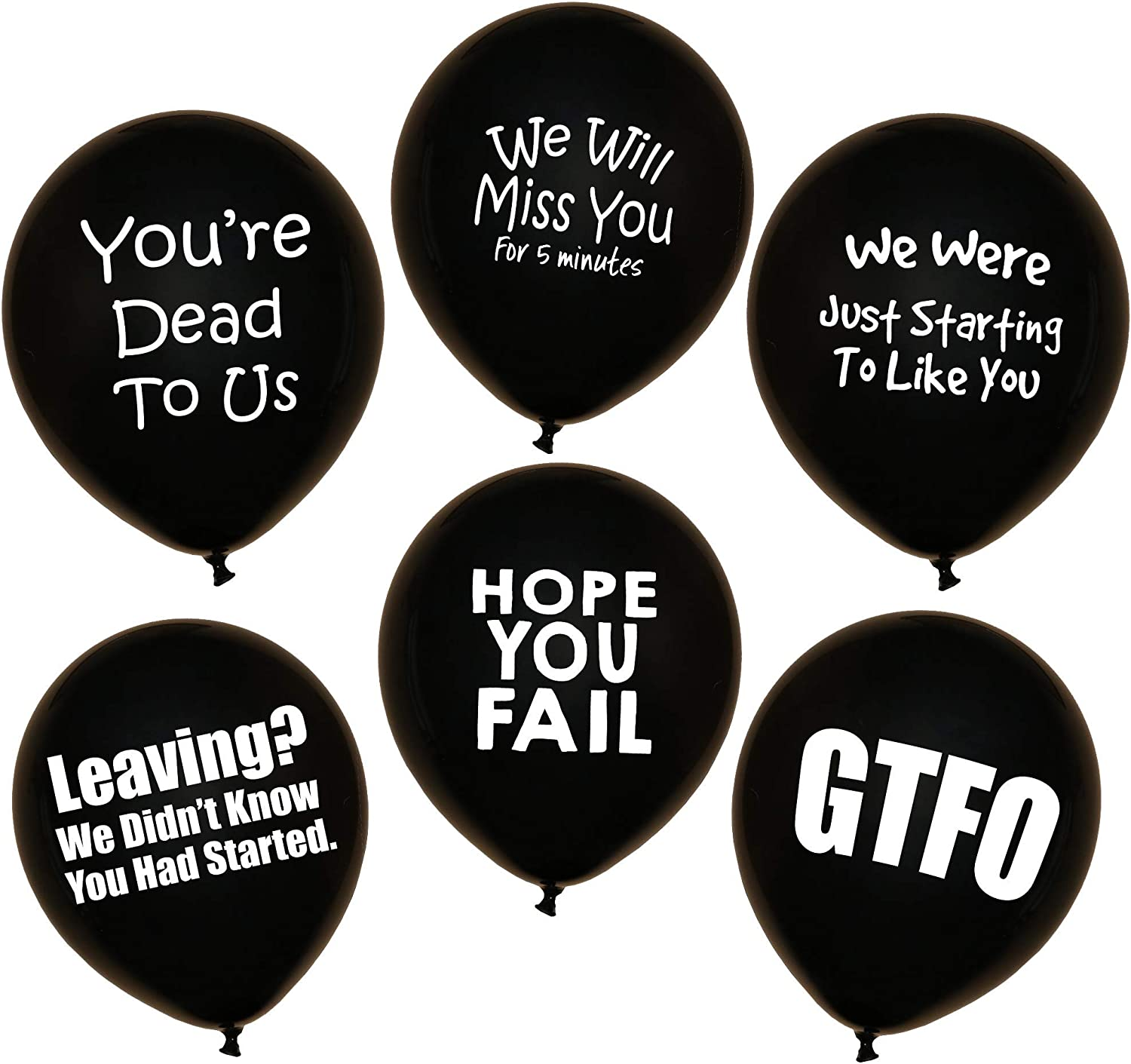 ROFLmart Funny Coworker Going Away Last Day Office Party Decorations Balloons 18 Pack