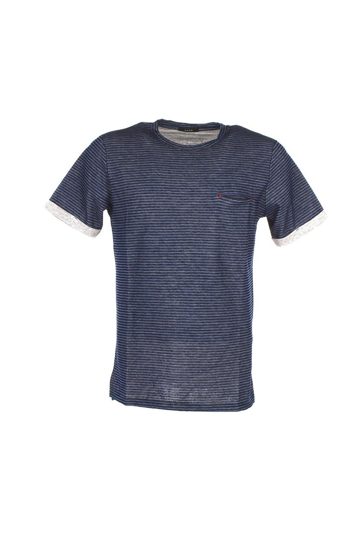 Kaos T-Shirt Uomo M Blu Kp2sh004 Primavera Estate 2018