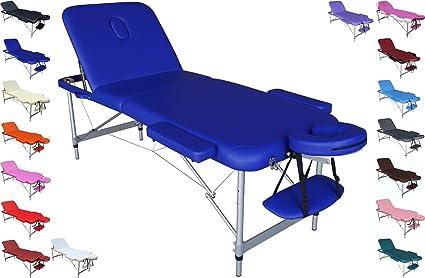 EUROPA Camilla mesa de aluminio ligera portátil para masajes ...