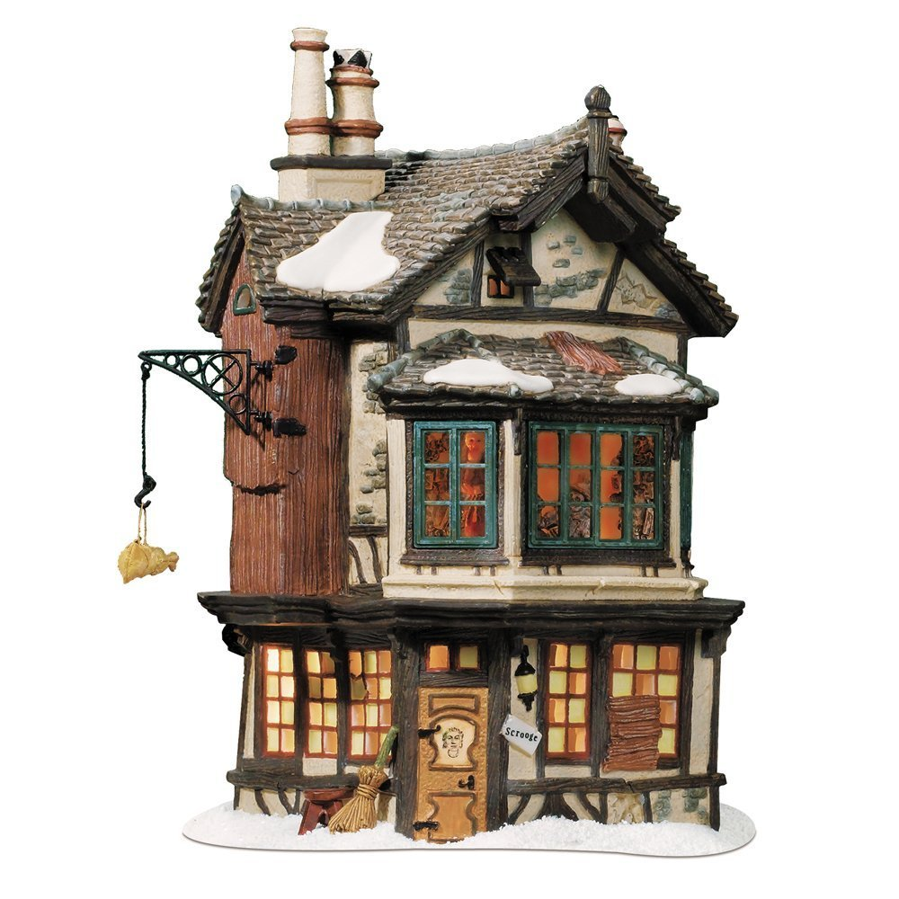 Department 56 Dickens' Village Ebenezer Scrooge's House Lit House by Department 56