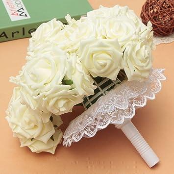 Luckyfine Haarspange 50 Foam Rosa Hochzeit Blumenstrauss Kunstblume