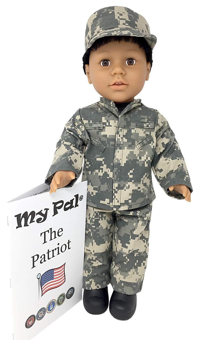 My Pal The Patriot 18インチ人形 ミディアムスキンカラー ブラウンアイ ブラックカーリーヘア   B07BJD7LYL