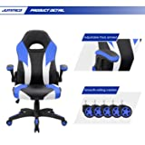 JUMMICO Gaming Chair Leather Racing Computer