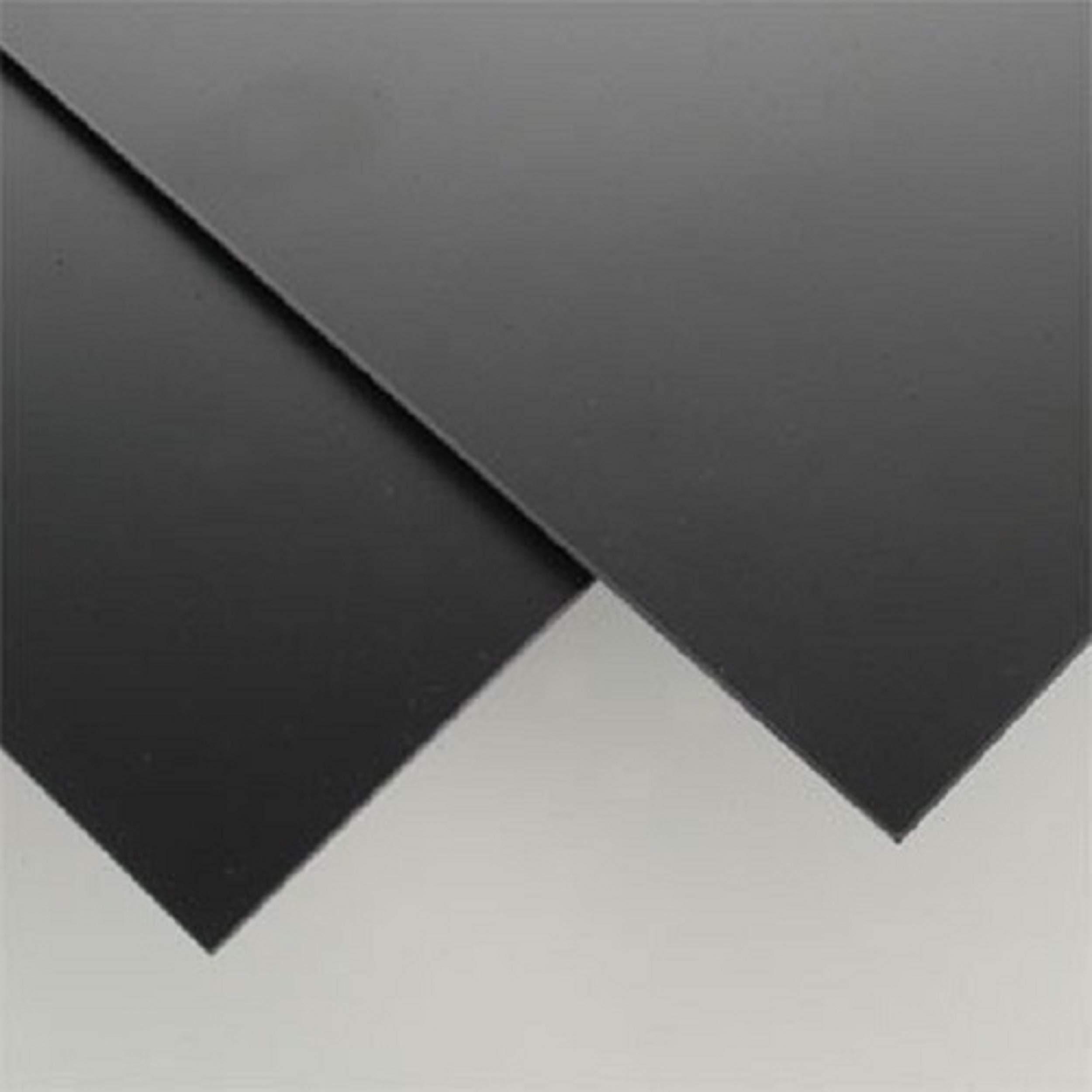 SIBE-R-PLASTIC SUPPLY Black Styrene Sheets .06'' x 6'' x 12''