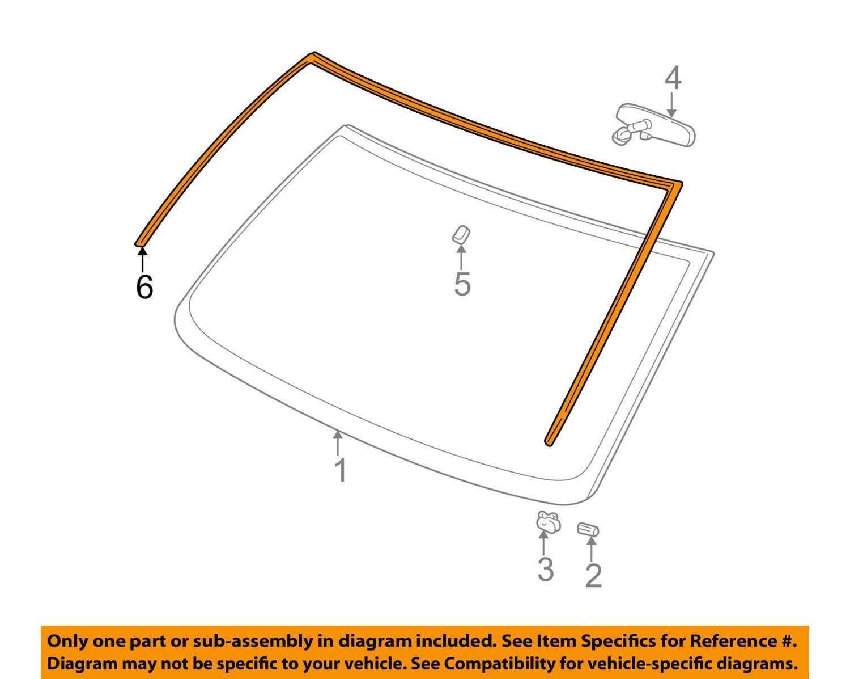 Genuine Gm 15120891 Windshield Reveal Molding Automotive Diagram Of Chevy Express 1500 Cargo Van Engine