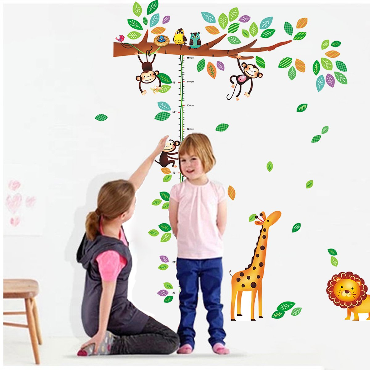 Amazon chart height measurement growth chart tree monkeys and amazon chart height measurement growth chart tree monkeys and animals nursery wall decals stickers wall decal decor sticker removable r for nursery nvjuhfo Choice Image