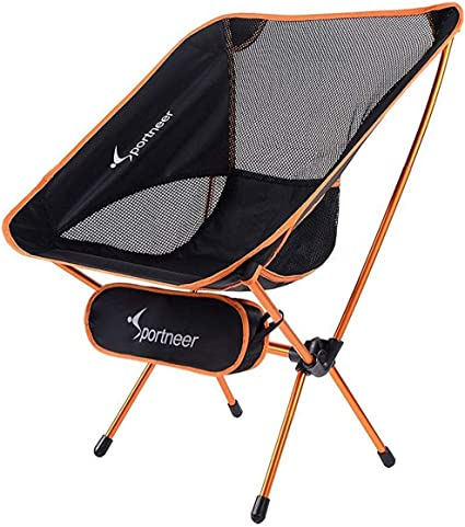 Backpacking Office BBQ Double Side Large Pockets Portable Foldable Sturdy Camp Cot with Storage Bag for Camping Sportneer Camping Cots Adults Up to 450 LBS Hiking Beach