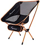 Sportneer Camping Backpacking Chair Portable Lightweight Folding Camp Chairs Heavy Duty 350lbs Capacity for Camping, Backpacking, Hiking, Beach, Picnic, with Carry Bag