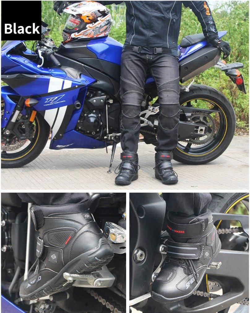 LKN Motorradschuhe Motocross Stiefel Schutzausr/üstung Schwarz