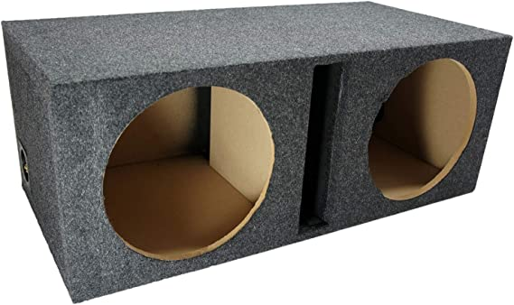 Amazon Com Car Audio Dual 12 Vented Subwoofer Stereo Sub Box Ported Enclosure 5 8 Mdf