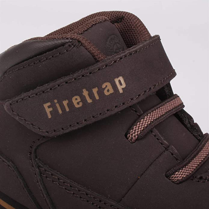 Firetrap Kids Rhino Infant Boots Rugged Padded Ankle Collar High Leather Upper