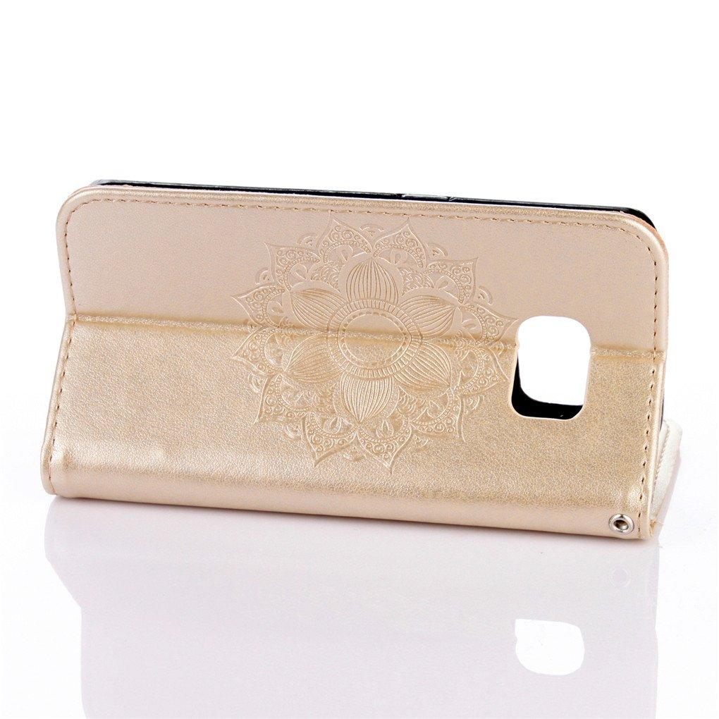 Amazon.com: Galaxy S6 Edge Case, Enjoy Sunlight [Gold ...
