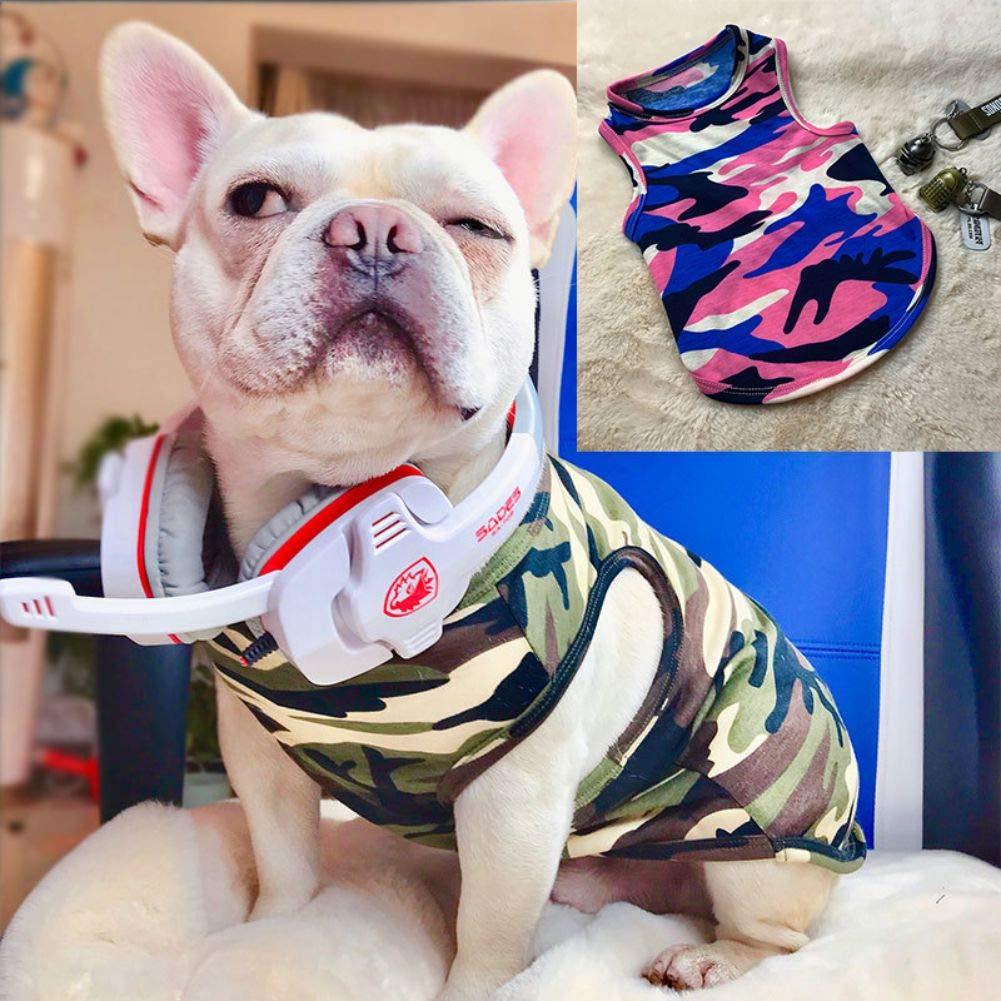 Pet Clothing Camouflage Printed Dog Vest Cotton Clothes T Shirts PanDaDa Dog Summer T-Shirts Vest