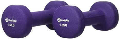 BodyRip - Mancuernas (Neopreno, 2 x 1,5 kg): Amazon.es: Deportes y ...