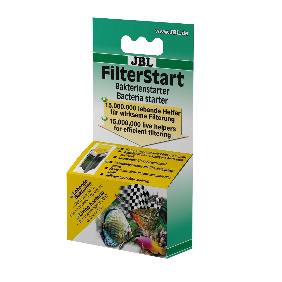 JBL FilterStart, Bactéries pour l'activation de filtres neufs ou nettoyés Liquide, Pour aquariums d'eau douce et d'eau de mer 25185