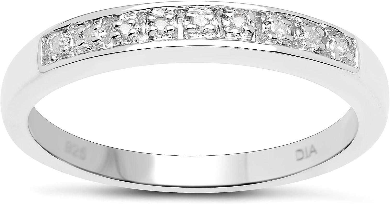 La Colección Anillos Diamantes: Anillo Plata de Diamante de 3 mm de ancho, Anillo de eternidad , Talla del anillo 6,8,9,10,11,12,13,15,16,17,19,20,21,22,24,25,26
