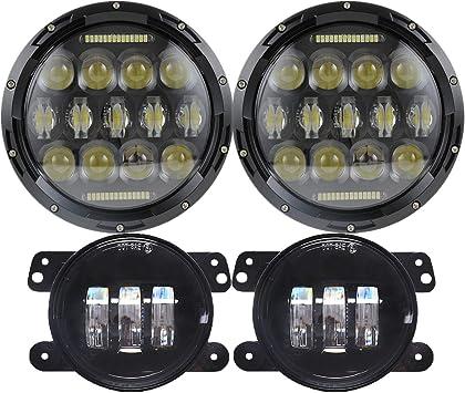 Round DRL 4 LED Daytime Running Lights Front Spot Fog Indicator For Mercedes