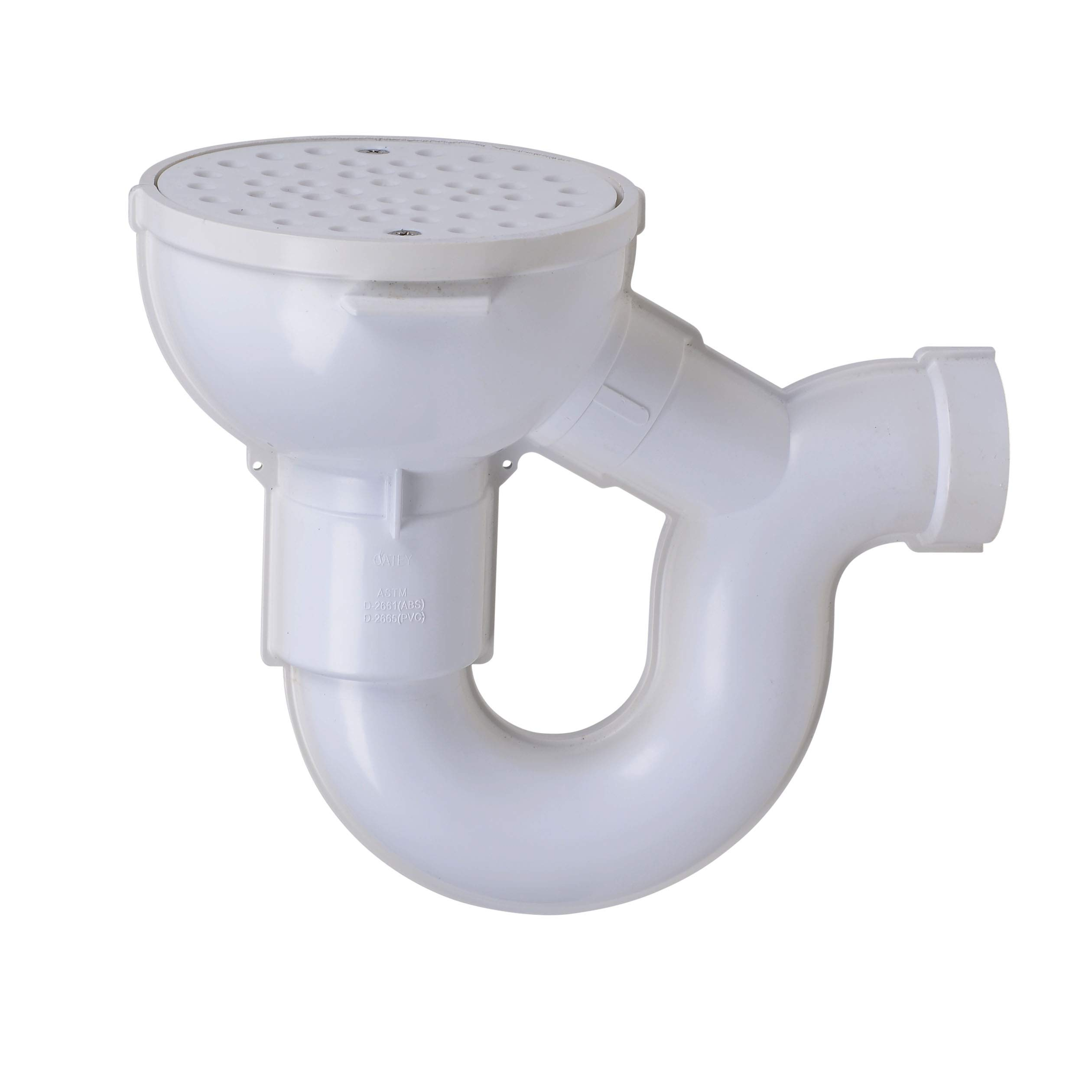 Oatey 42724 Floor Drain with P-Trap, 2-Inch, White