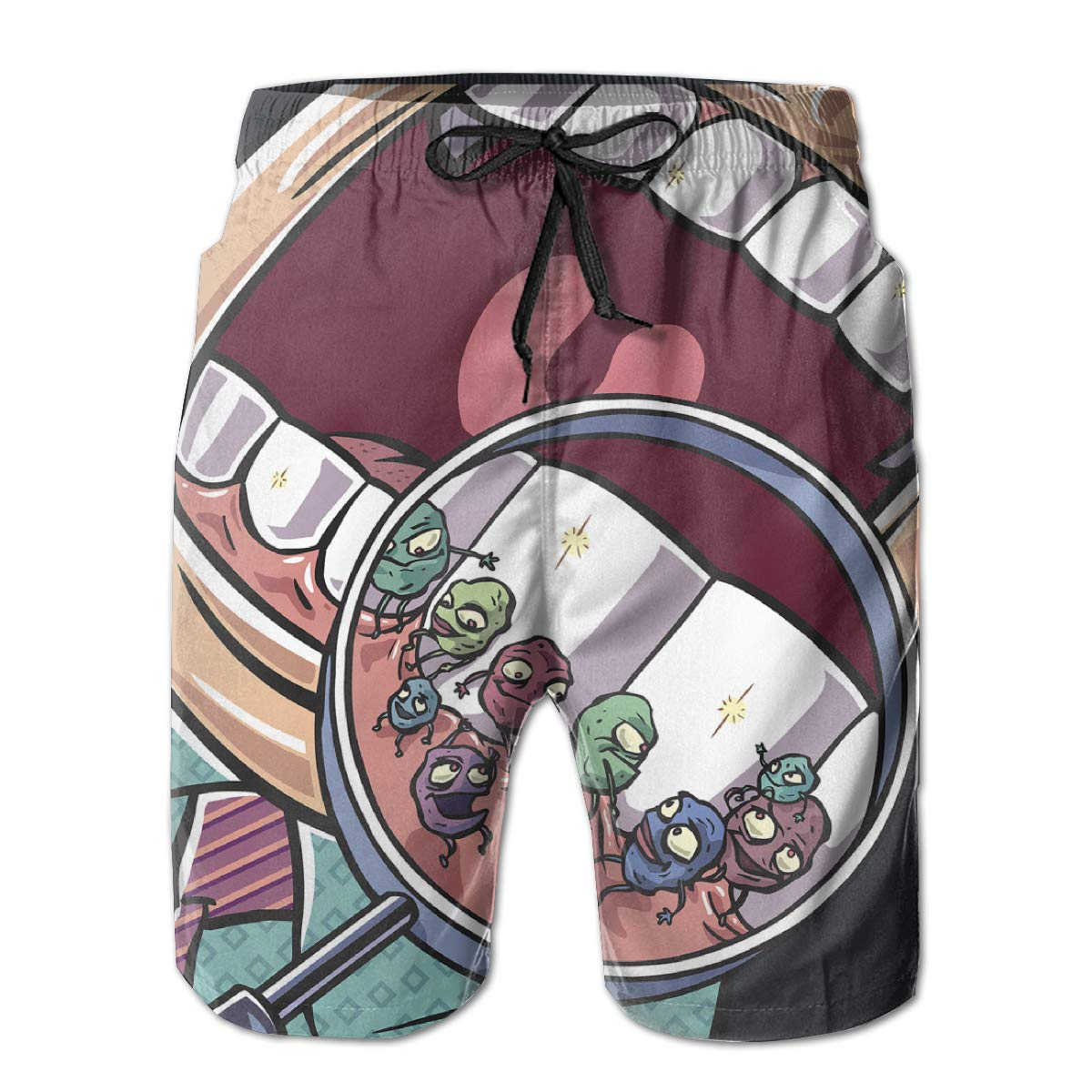 Protect Our Teeth Mens Swimming Pants Swimming and Other Marine Sports Suitable for Surfing Hateone Beach Shorts