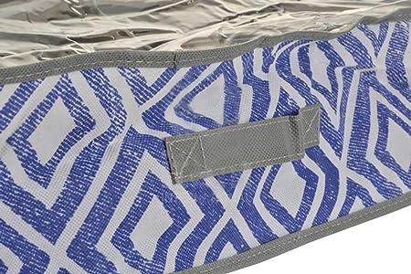 Item Caja Almacenaje Departamentos, Tela, Azul, 58 x 75 x 15 cm: Amazon.es: Hogar
