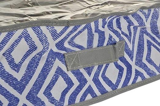 Item Caja Almacenaje Departamentos, Tela, Azul, 58 x 75 x 15 cm ...