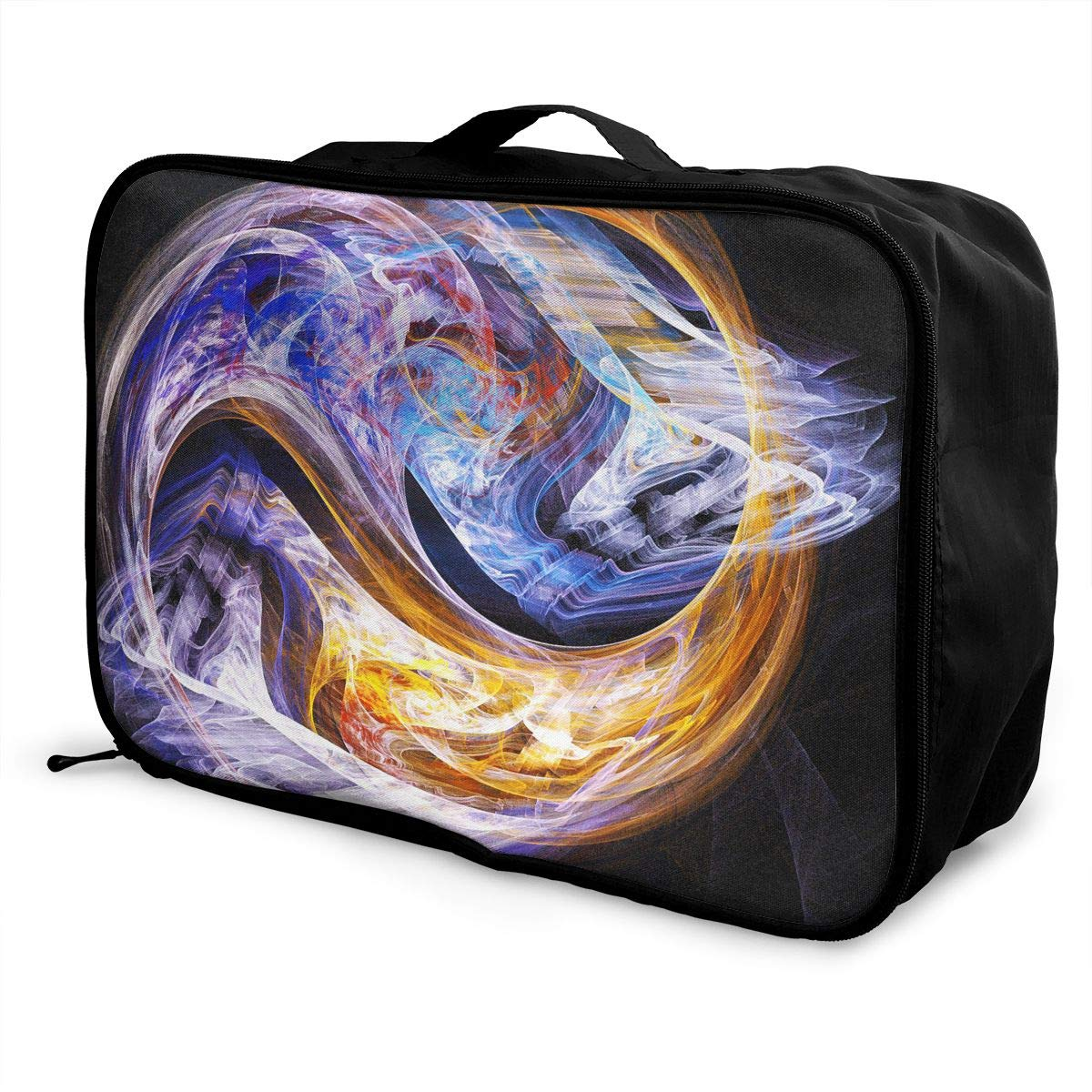 Heart Abstract Love Travel Lightweight Waterproof Foldable Storage Carry Luggage Large Capacity Portable Luggage Bag Duffel Bag