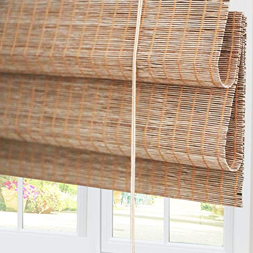 Bamboo Roman Window Shades Blinds 70w X 60h Inches Light Filtering Uv Protection Roll Up Roller Shades With Valance For Windows Kitchen Doors Porch Pattern 4 Amazon Ca Home Kitchen