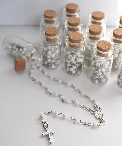 amazon com 12 x rosary bottle baptism communion recuerdos de