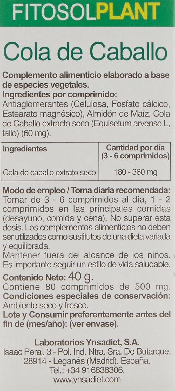 Fitosol Cola Caballo - 80 Comprimidos: Amazon.es: Salud y cuidado personal